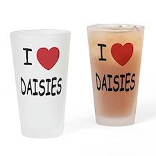 I heart daisies Drinking Glass