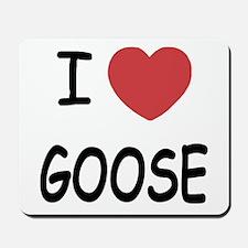 I heart goose Mousepad