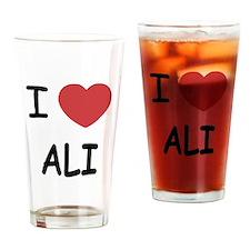 I heart ali Drinking Glass