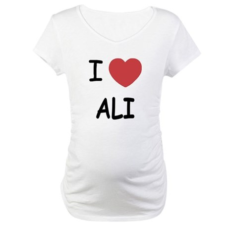 I heart ali Maternity T-Shirt