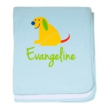 Evangeline Loves Puppies baby blanket