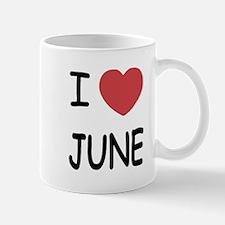 I heart june Mug