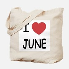 I heart june Tote Bag