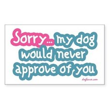 Sorry (Dog) Rectangle Decal