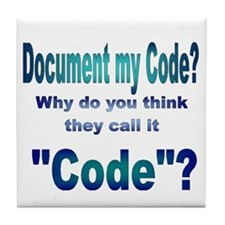 Document my Code? Tile Coaster