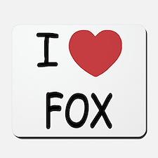 I heart fox Mousepad