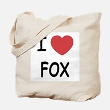 I heart fox Tote Bag