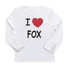 I heart fox Long Sleeve Infant T-Shirt
