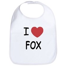 I heart fox Bib