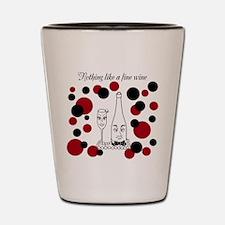 Fine Wine black & red Shot Glass