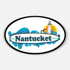 Nantucket MA - Oval Design Decal