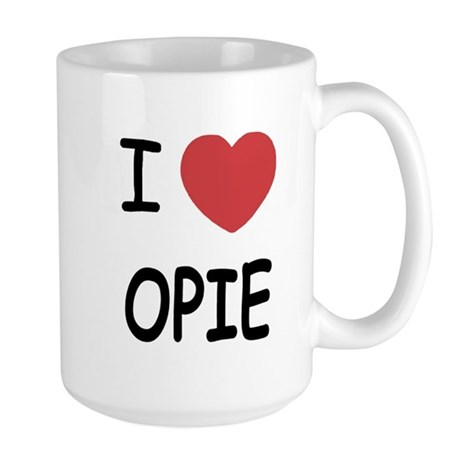 I heart opie Large Mug