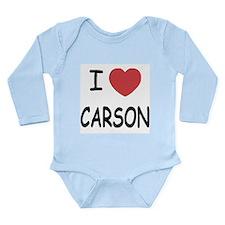 I heart carson Long Sleeve Infant Bodysuit