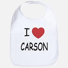 I heart carson Bib
