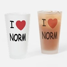 I heart norm Drinking Glass