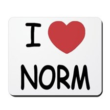 I heart norm Mousepad