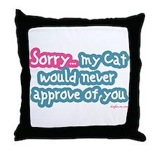 Sorry (Cat) Throw Pillow