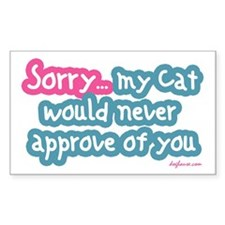 Sorry (Cat) Rectangle Decal
