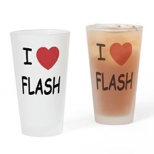 I heart flash Drinking Glass