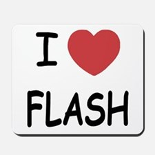 I heart flash Mousepad