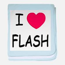 I heart flash baby blanket