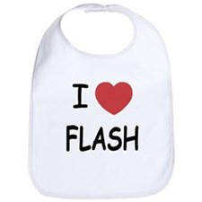I heart flash Bib