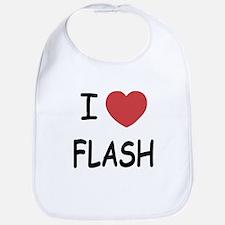 I heart flash Bib