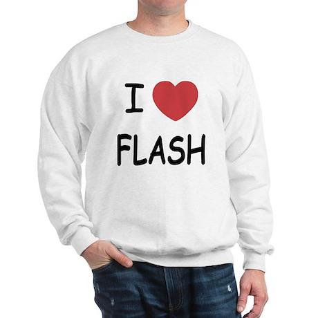 I heart flash Sweatshirt