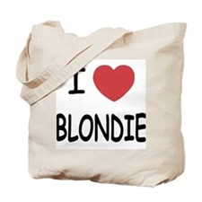 I heart blondie Tote Bag