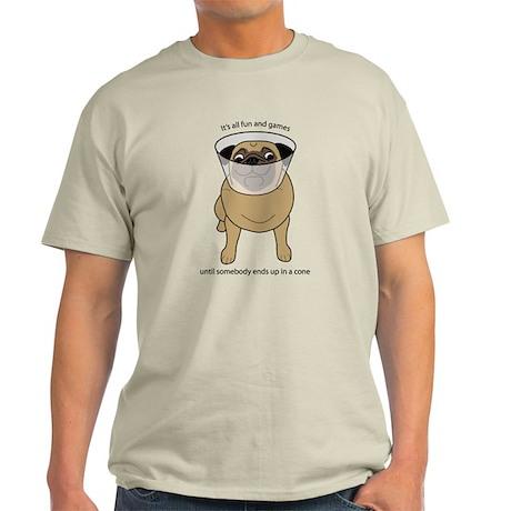 Conehead Fawn Pug Light T-Shirt