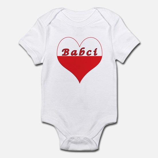Babci Polish Heart Infant Bodysuit