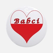 Babci Polish Heart Ornament (Round)