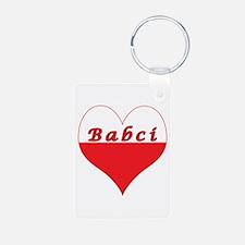 Babci Polish Heart Aluminum Photo Keychain