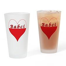 Babci Polish Heart Drinking Glass