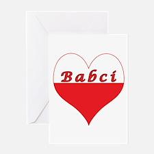 Babci Polish Heart Greeting Card