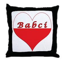 Babci Polish Heart Throw Pillow