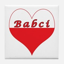 Babci Polish Heart Tile Coaster
