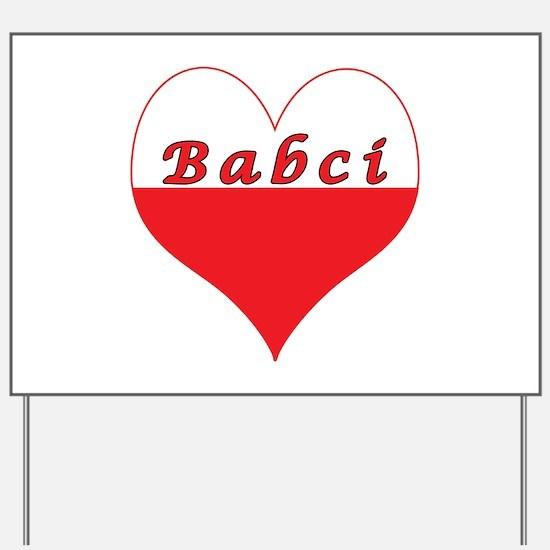Babci Polish Heart Yard Sign