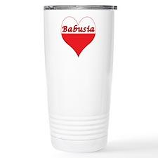 Babusia Polish Heart Travel Mug