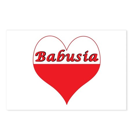 Babusia Polish Heart Postcards (Package of 8)