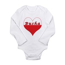 Busha Polish Heart Long Sleeve Infant Bodysuit