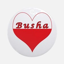 Busha Polish Heart Ornament (Round)