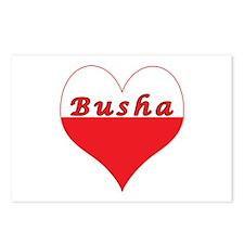 Busha Polish Heart Postcards (Package of 8)
