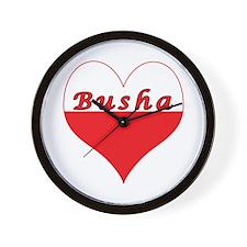 Busha Polish Heart Wall Clock