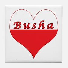 Busha Polish Heart Tile Coaster