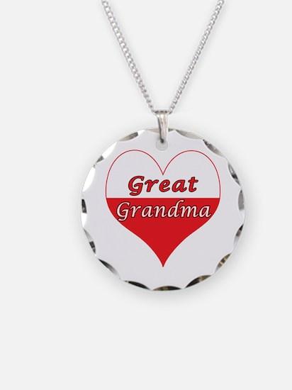 Great Grandma Polish Heart Necklace