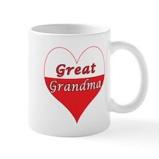 Great Grandma Polish Heart Mug