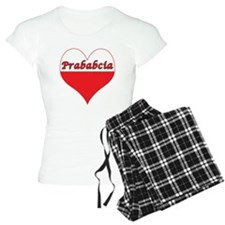 Prababcia Polish Heart pajamas