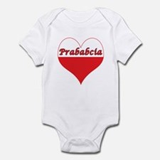 Prababcia Polish Heart Infant Bodysuit