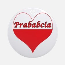 Prababcia Polish Heart Ornament (Round)